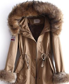anorak with fur