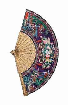 Cantonese gilt filigree fan, c 1860 auctioned at Christie's for a mere $7000 on 09 Nov 2012