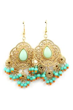 Dreamy Minty Chandelier Earrings
