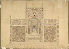 Titel   The screen around the cenotaph in the Taj Mahal, Agra. | Artist…
