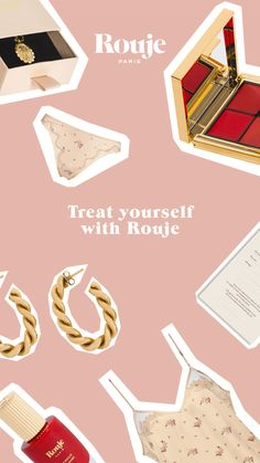 At Rouje, it's always time for a treat. Discover our selection of lingerie, jewelry, beauty products. Web Design, Email Design, Ideias Diy, Ads Creative, Social Media Design, Commercial Photography, Stop Motion, Motion Design, Logo Design Inspiration