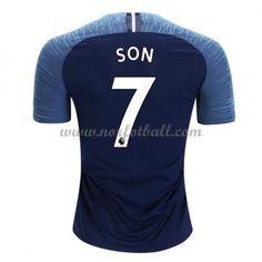 Billige Fotballdrakter Tottenham Hotspurs 2018-19 Heung Min Son 7 Bortedrakt Kortermet Tottenham Hotspur, Premier League, Sons, My Son, Guys, Children