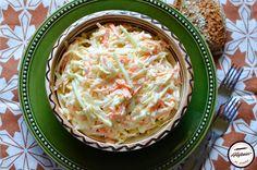 Salata Coleslaw Torte Cake, Coleslaw, Desert Recipes, Macaroni And Cheese, Cabbage, Deserts, Vegetables, Ethnic Recipes, Celery