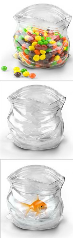 Hand-Blown Glass Ziploc Bag Bowl - SO Cool & So Many Uses for it!