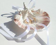 Ring Bearers Shell / Wedding Accessory / by SeasideImpressions Seashell Wedding, Beach Wedding Favors, Wedding Crafts, Wedding Decorations, Cruise Wedding, Summer Wedding, Our Wedding, Destination Wedding, Frangipani Wedding