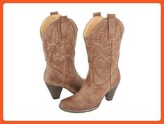 Very Volatile Denver Womens Cowboy Boots Tan 7.5 - Boots for women (*Amazon Partner-Link)
