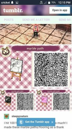 Pink, black, and white marble tile animal crossing qr codes clothes, animal crossing Animal Crossing New Leaf Qr Codes, Animal Crossing Qr Codes Clothes, Animal Crossing Game, Tier Wallpaper, Code Wallpaper, Animal Wallpaper, Acnl Pfade, Animal Jokes, Funny Animals