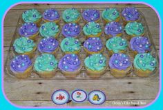 The Little Mermaid Cupcakes by Christy's Cake Pops & More Easley, SC
