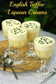 Creamy dessert with a silky cream topping ! #Desserts #CreamDesserts #EnglishToffee #LiqueurDessert