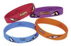 Teenage Mutant Ninja Turtles Party Bracelet Favours x 4
