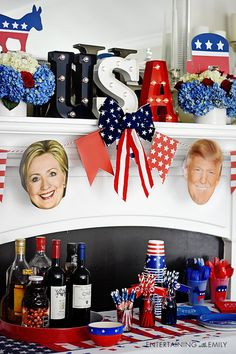 Show Your Political Prowess: It's Debate & Election Party Season! How to have a fun election party Election Night Party, Trump Birthday, Party Rock, Diy Party, Party Ideas, Political Party, 4th Birthday Parties, Party Planning, Party Time
