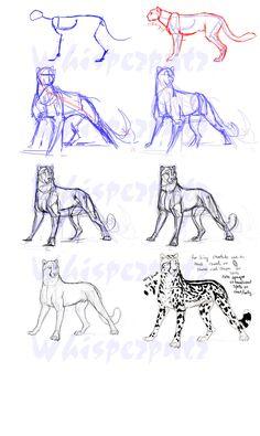 King Cheetah Construction by whisperpntr.deviantart.com on @deviantART