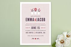Flower Vases Wedding Invitations by Kristen Smith at minted.com