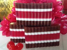Chocolate Covered Cherry Soap - glycerin soap, Valentine's soap