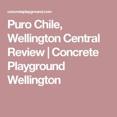 Puro Chile, Wellington Central Review | Concrete Playground Wellington