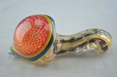 The Dab Lab - CUSTOM CREATIONS - Fully Worked Inside Out Dry Sherlock Pipe w/ Honeycomb Head by Michael Crouch -