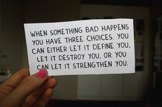 I chose strengthen...