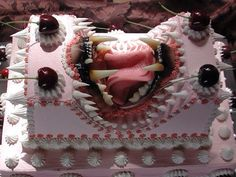 This is one freaky pink monster cake...wow.