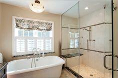 beautiful bathroom with freestanding tub
