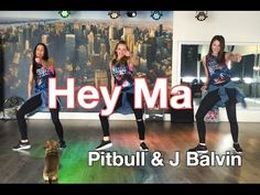 Hey Ma - Pitbull & J Balvin ft Camila Cabello - Easy Fitness Dance - Baile - Zumba Dance Workout Videos, Dance Choreography Videos, Dance Videos, Dance Exercise, Zumba Routines, Workout Routines For Women, Free Workout Apps, Easy Dance, Scoliosis Exercises