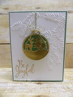 Merriest Wishes and Pine Bough Embossing Folder from the 2016 Holiday Catalog available 9/1/16 - created by Joanne Mulligan, Independent Stampin' Up! Demonstrator