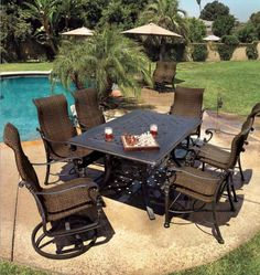 Gensun Tuscany dining table with Florence woven dining chairs