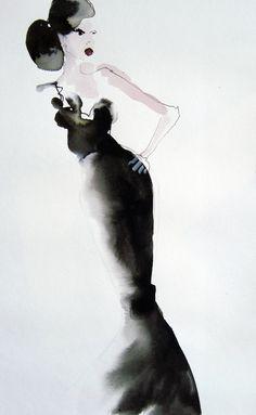 Bridget Davies #fashion #illustration #donneVincenti