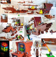 The Fireflower - Mighty LEGO Super Mario 3 airship by ~VonBrunk on deviantART