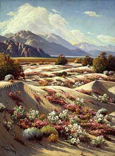 Paul Grimm, Desert Springtime  Wonderful California Impressionist