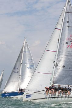 The Beneteau First 40.7 yacht 'Interceptor' racing during Cowes Week 2013.