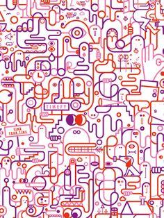 Machas Artist Jonathan Calugi - Double Doodle!  #doodle #illustration