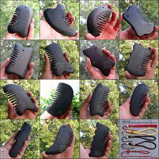 Black Bian Stone jade Gua Sha Comb Head Massage Scrape Therapy Health Cure Tool