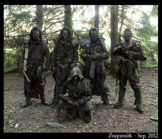 I look at these guys and wonder if some reports of strange creatures/monsters seen in forests may just be Larpers?