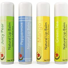 Natural Lip Balm For Women And Men Flavored Lip Repair Treatment For Dry Lips Therapeutic Lip Remedy for Cracked Chapped Lips Four Flavor Multipack With Aloe Vera Shea Butter And Antioxidant Vitamin E Lip Care Tips, Natural Makeup Remover, Cracked Lips, Antioxidant Vitamins, Natural Lip Balm, Dry Lips, Vitamin E Oil, Shea Butter, The Balm