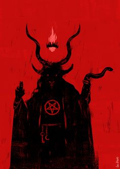 baphomet Not sure why I drew this, I enjoy drawing mythological and religious figures and… Arte Horror, Horror Art, Dark Fantasy, Fantasy Art, Art Noir, Satanic Art, Occult Art, Occult Symbols, Baphomet