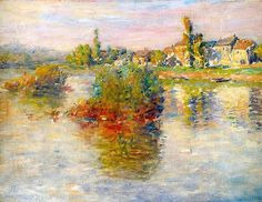 1879 Claude Monet The Seine at Lavacourt, study