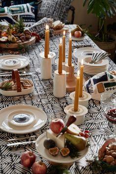 Merry Mellow Christmas w/ Marimekko (Varpunen) Whimsical Christmas, Magical Christmas, Noel Christmas, Marimekko, Scandinavian Christmas, Scandinavian Design, Candels, Dining Table Chairs, Dining Area