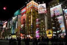 akihabara district and anime shops in tokyo