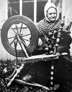 Old ancestry visit genealogy Scottish family history photograph image of a Flax Spinner in Highland Perthshire, Scotland