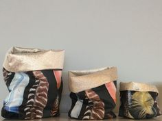 New to Raven Gallery, slouch bags from Spotted Quoll.  Got to love the idea of storing stuff in such gorgeous containers.