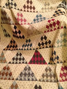 beautiful old quilt, love the color