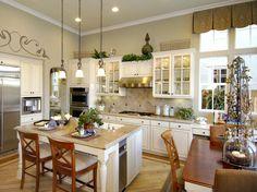 Hardwood floors super white granite countertops KitchenAid