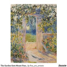The Garden Gate Monet Fine Art Jigsaw Puzzle