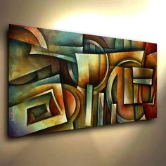 Abstract Art Painting modern Contemporary DECOR Michael Lang certified original #Abstract