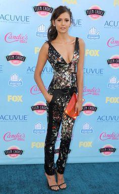 Nina Dobrev in J. Mendel at Teen Choice Awards