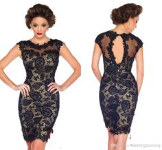 Cocktail Dresses For Cruises Sexy Gentlewomanlike Prom Dresses Black Cocktail Dress A Line Knee Length Scoop Appliques Lace Dresses Coctail Dress 2014 Champagne Cocktail Dress From Weddingplanning, $100.44| Dhgate.Com