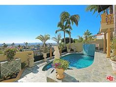 This beautiful pool has an unbeatable view of the world famous Sunset Strip!