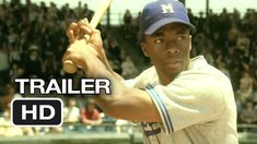 """""""42"""" is the life story of Jackie Robinson and his history-making signing with the Brooklyn Dodgers under the guidance of team executive Branch Rickey."""