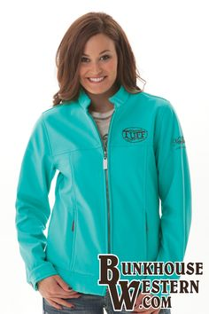 @cowgirltuffco, Turquoise, Microfiber Jacket, Cowgirl Tuff, Rodeo, Country Girl, Winter Apparel, Barrel Racing, $149.99, http://bunkhousewestern.com/H379