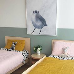 Beautiful Blue Rooms with Mustard Accents – Petit & Small – little girl rooms Rooms Decoration, Decorations, Deco Kids, Shared Rooms, Blue Rooms, Little Girl Rooms, Boy And Girl Shared Room, Kid Spaces, Kids Decor